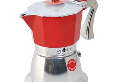 Caffettiera Super Top Moka per induzione rossa