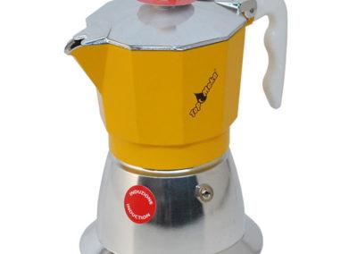 Caffettiera Top Moka per induzione gialla