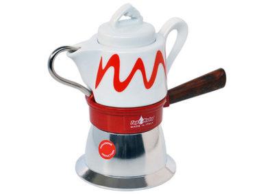 Caffettiera Top Moka per induzione rossa