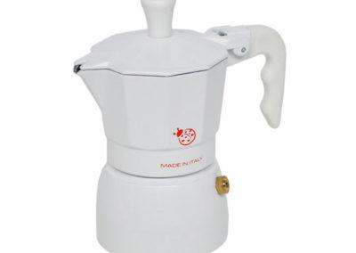 Caffettiera Coccinella in teflon bianca