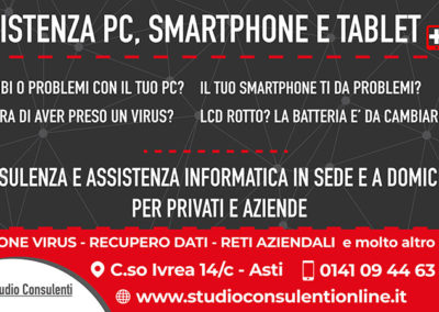 Assistenza PC, smartphone e tablet