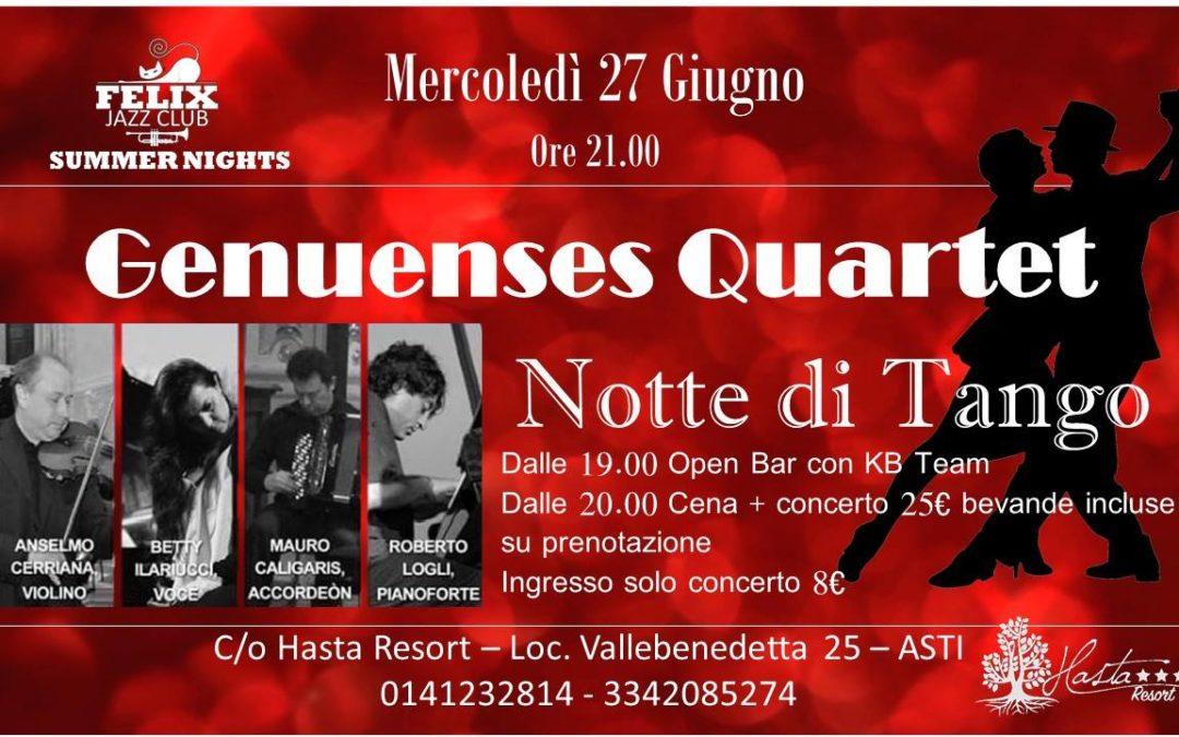 Notte di tango con Genuenses Quartet – Hasta Resort